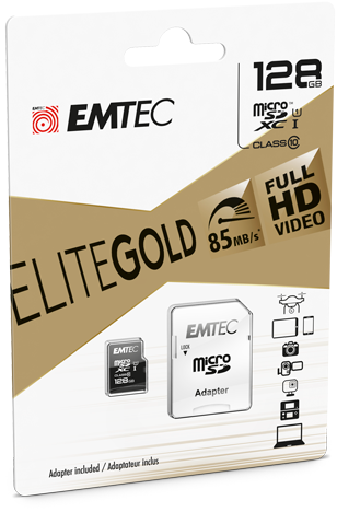 Carte micro-sd Classe 10 de 128 Giga Bits et son adaptateur